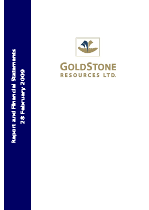 Goldstone Resources annual report 2009