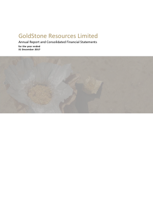 Goldstone Resources annual report 2017