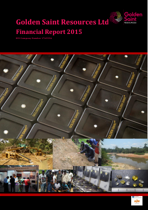 Golden Saint Resources annual report 2015