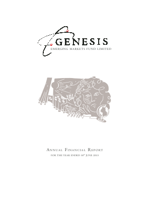Genesis Emerging Markets Fund annual report 2015