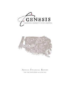 Genesis Emerging Markets Fund annual report 2016
