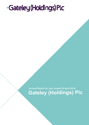 Gateley Holdings Plc annual report 2016