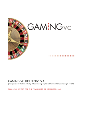Gvc Holdings Plc annual report 2008