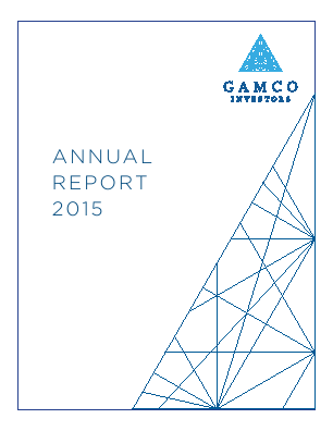 Gabelli Value Plus + Trust Plc annual report 2015