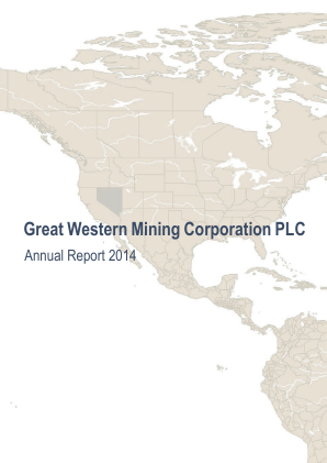 Great Western Mining Corp Plc annual report 2014