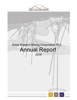 Great Western Mining Corp Plc annual report 2016