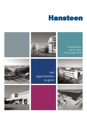 Hansteen Holdings annual report 2010