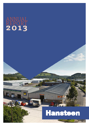 Hansteen Holdings annual report 2013