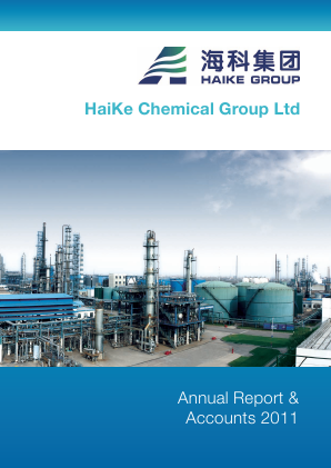 Haike Chemical Group annual report 2011
