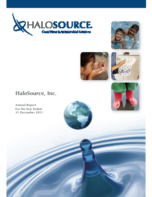 Halosource Inc annual report 2011