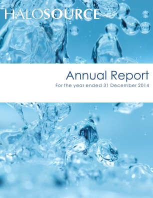 Halosource Inc annual report 2014
