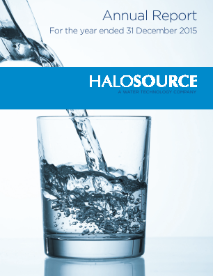Halosource Inc annual report 2015