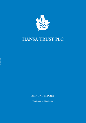 Hansa Trust annual report 2006