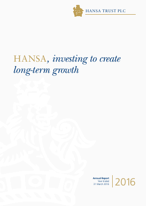Hansa Trust annual report 2016
