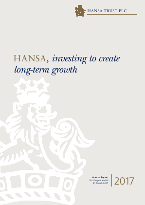 Hansa Trust annual report 2017