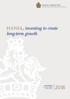 Hansa Trust annual report 2018