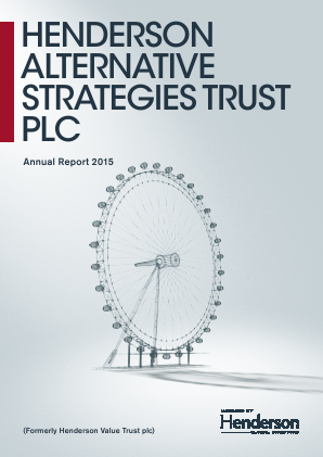 Henderson Alternative Strategy Trust Plc annual report 2015