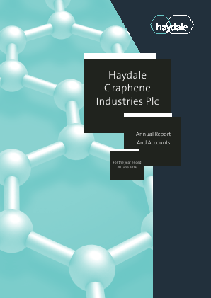 Haydale Graphene Industries Plc annual report 2016