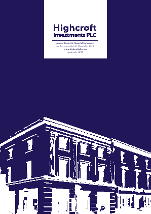 Highcroft Investments annual report 2013