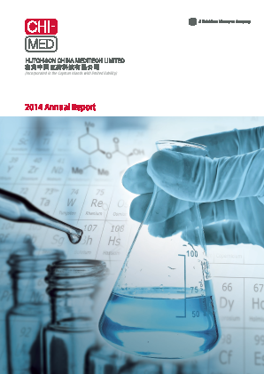 Hutchison China Meditech annual report 2014