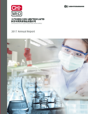 Hutchison China Meditech annual report 2017