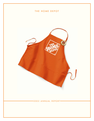 Home Depot annual report 2002