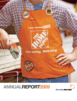 Home Depot annual report 2009