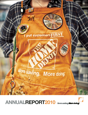 Home Depot annual report 2010