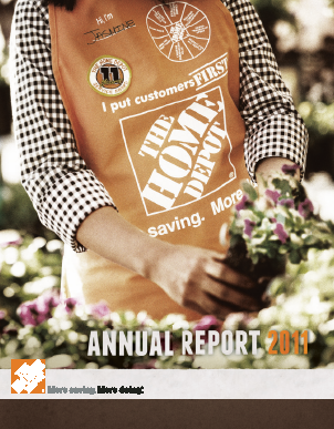 Home Depot annual report 2011