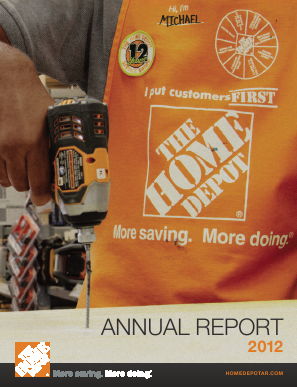 Home Depot annual report 2012