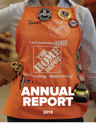 Home Depot annual report 2013