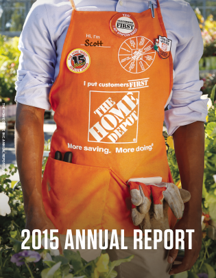 Home Depot annual report 2015