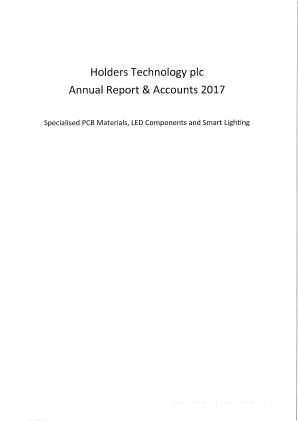Holders Technology annual report 2017