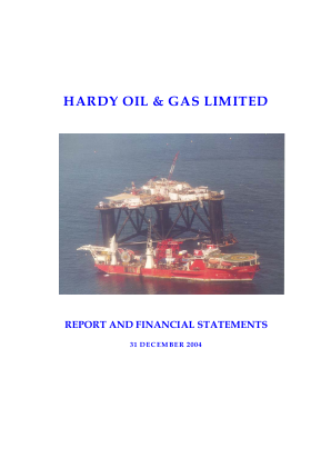 Hardy Oil & Gas annual report 2004