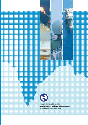 Hardy Oil & Gas annual report 2005