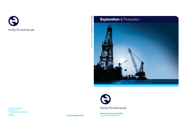 Hardy Oil & Gas annual report 2008
