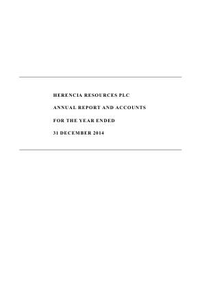 Herencia Resources annual report 2014