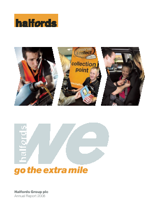 Halfords Group annual report 2008