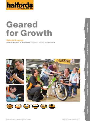 Halfords Group annual report 2010