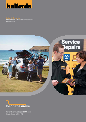 Halfords Group annual report 2011