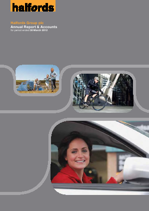 Halfords Group annual report 2012