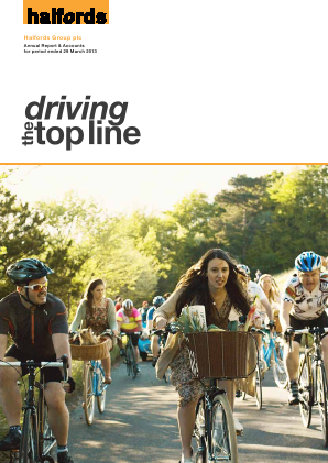 Halfords Group annual report 2013