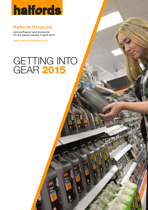 Halfords Group annual report 2015