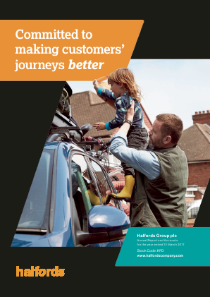 Halfords Group annual report 2017