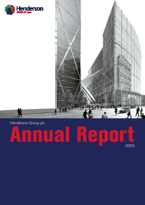 Henderson Group Plc annual report 2009
