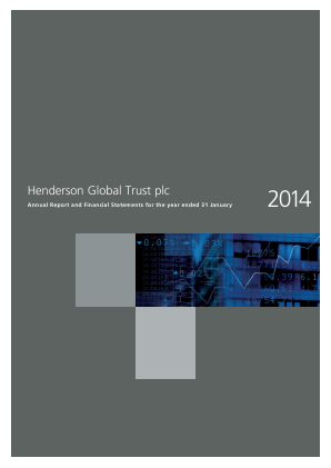 Henderson Global Trust Plc (merged with Henderson International Income Trust February 2016) annual report 2014