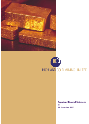 Highland Gold Mining annual report 2002