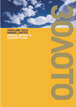 Highland Gold Mining annual report 2004