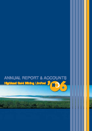 Highland Gold Mining annual report 2006