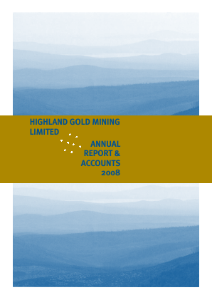 Highland Gold Mining annual report 2008